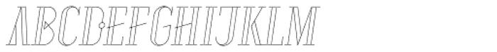 Aquus Linearis Italic Font UPPERCASE