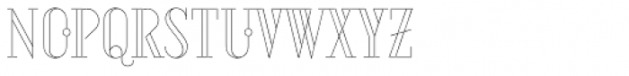 Aquus Linearis Font UPPERCASE