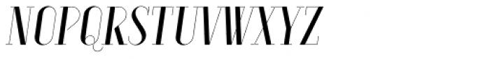 Aquus Simplex Italic Font UPPERCASE