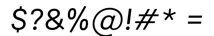 Areal BL Book Italic Font OTHER CHARS