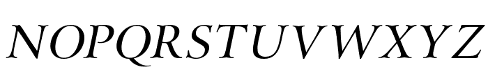 Array Italic Font UPPERCASE