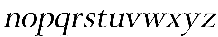 Array Italic Font LOWERCASE