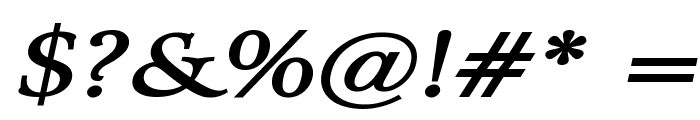 Array Wide BoldItalic Font OTHER CHARS