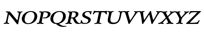 Array Wide BoldItalic Font UPPERCASE