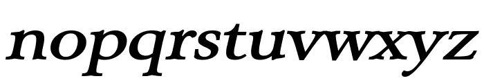 Array Wide BoldItalic Font LOWERCASE