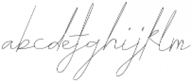 ARK Seychelle Signature otf (400) Font LOWERCASE