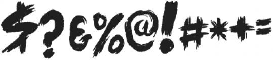 ARTSY BRUSH Regular otf (400) Font OTHER CHARS
