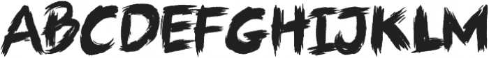 ARTSY BRUSH Regular otf (400) Font UPPERCASE