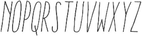 Aracne UltraCond Lig It otf (300) Font LOWERCASE