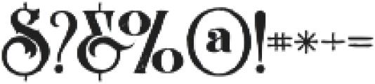 Arbatosh Grunge otf (400) Font OTHER CHARS