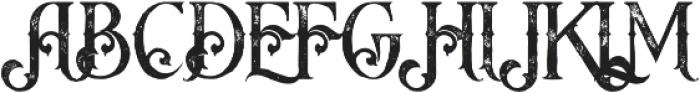 Arbatosh Grunge otf (400) Font UPPERCASE