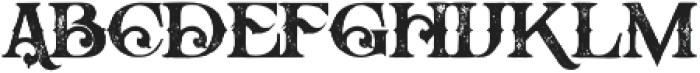 Arbatosh Grunge otf (400) Font LOWERCASE