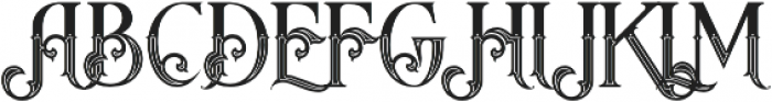 Arbatosh Inline otf (400) Font UPPERCASE