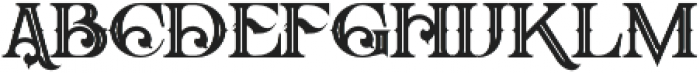 Arbatosh Inline otf (400) Font LOWERCASE