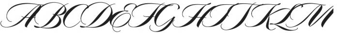 Arbordale Regular otf (400) Font UPPERCASE