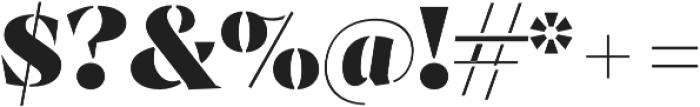 Archeron Pro Stencil Heavy otf (800) Font OTHER CHARS