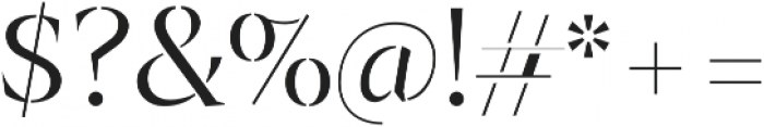 Archeron Pro Stencil Light otf (300) Font OTHER CHARS