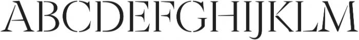 Archeron Pro Stencil Light otf (300) Font UPPERCASE