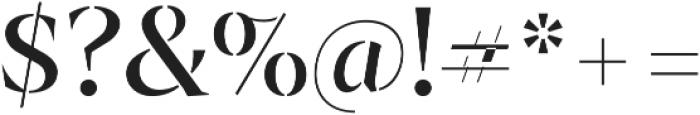 Archeron Pro Stencil otf (400) Font OTHER CHARS