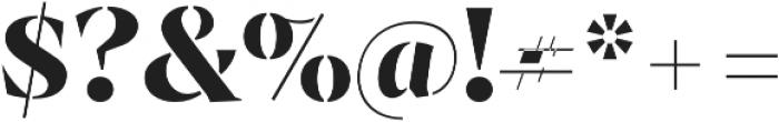 Archeron Pro Stencil otf (700) Font OTHER CHARS