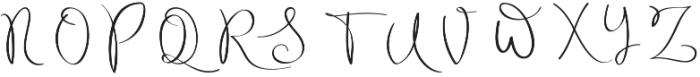 Archipelago Regular otf (400) Font UPPERCASE
