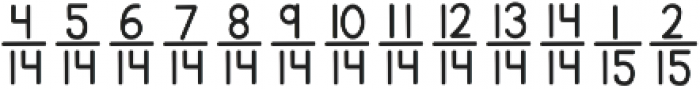 Architects Daughter ttf (400) Font LOWERCASE