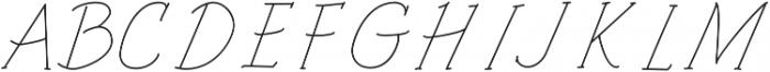 Architects and Draftsmen Light Italic otf (300) Font UPPERCASE