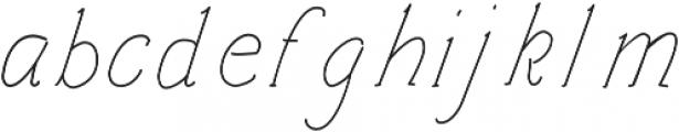 Architects and Draftsmen Light Italic otf (300) Font LOWERCASE