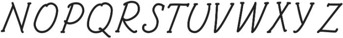 Architects and Draftsmen Regular Italic otf (400) Font UPPERCASE