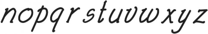 Architects and Draftsmen Regular Italic otf (400) Font LOWERCASE