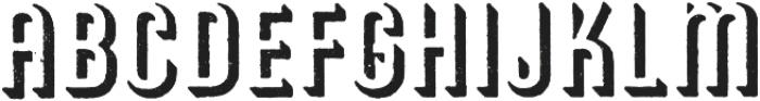 Archive American Shadow Regular otf (400) Font LOWERCASE