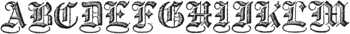 Archive Copperplate Text Regular otf (400) Font UPPERCASE