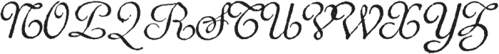 Archive French Script Regular otf (400) Font UPPERCASE