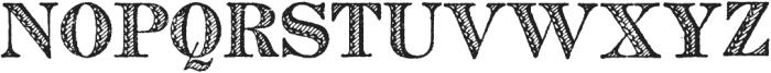 Archive French Shaded Regular otf (400) Font UPPERCASE