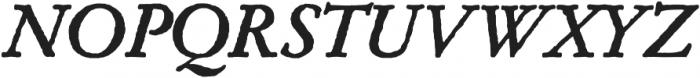 Archive Garamond Pro Bold Italic otf (700) Font UPPERCASE