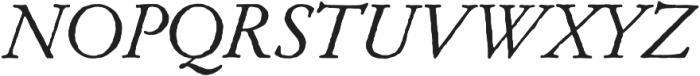 Archive Garamond Pro Italic otf (400) Font UPPERCASE