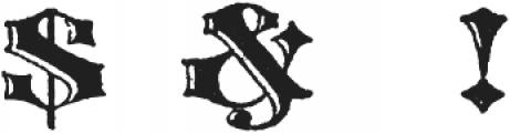 Archive Harlem Title Regular otf (400) Font OTHER CHARS