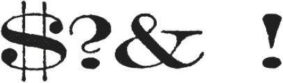 Archive Lightface Extended Regular otf (300) Font OTHER CHARS