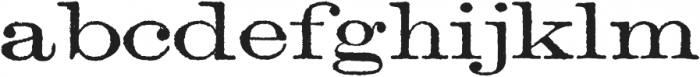 Archive Lightface Extended Regular otf (300) Font LOWERCASE