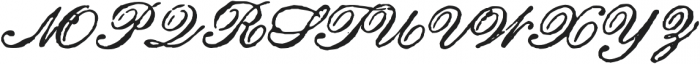 Archive Roundhand Script Regular otf (400) Font UPPERCASE
