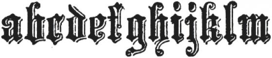 Archive School Text Regular otf (400) Font LOWERCASE