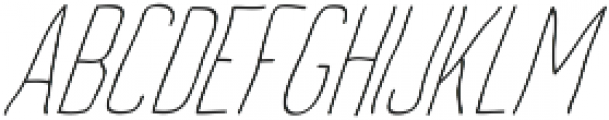 Archive's Light-italic ttf (300) Font UPPERCASE