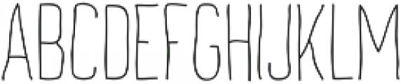 Archive's Light ttf (300) Font UPPERCASE
