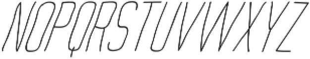 Archive's Light-italic ttf (300) Font UPPERCASE