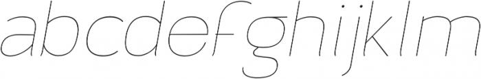 Archivio Italic 100 otf (100) Font LOWERCASE
