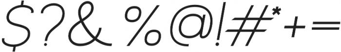 Archivio Italic 700 otf (700) Font OTHER CHARS