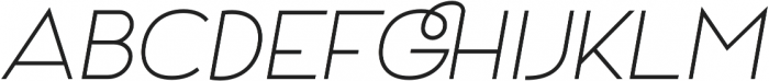 Archivio Italic 700 otf (700) Font UPPERCASE