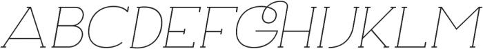 Archivio Italic Slab 200 otf (200) Font UPPERCASE