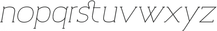 Archivio Italic Slab 200 otf (200) Font LOWERCASE