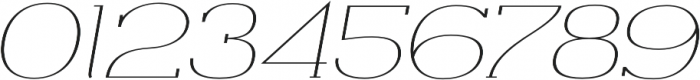 Archivio Italic Slab Contrasted 400 otf (400) Font OTHER CHARS